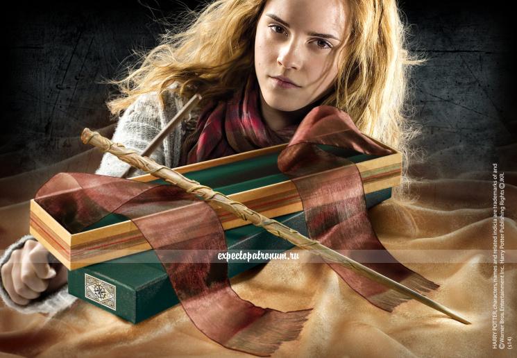 Оригинальная палочка Гермионы Грейнджер в коробке Олливандера