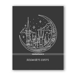 Открытка «Хогвартс существует»