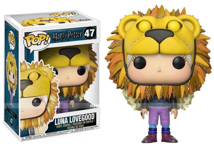 Коллекционная фигурка Funko POP! Луна Лавгуд в шляпе с головой льва