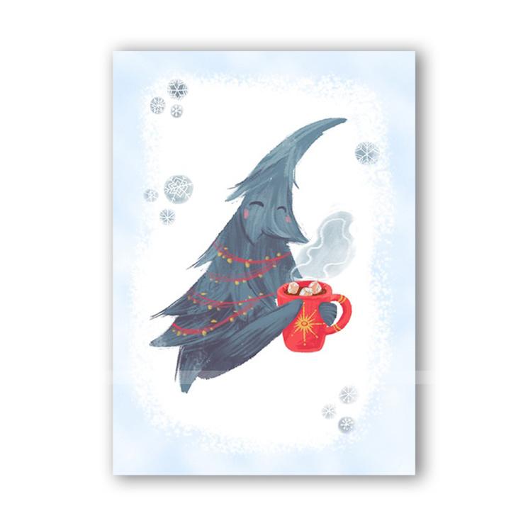"""Новогодняя открытка """"Жердяй уютный"""""""