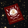 Новогодняя открытка Гриффиндор