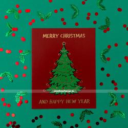 Открытка Рождественская ёлка Хогвартса