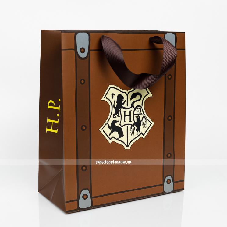 Подарочный пакет чемодан Гарри Поттера